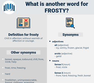 frosty, synonym frosty, another word for frosty, words like frosty, thesaurus frosty