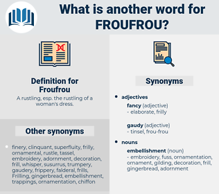 Froufrou, synonym Froufrou, another word for Froufrou, words like Froufrou, thesaurus Froufrou