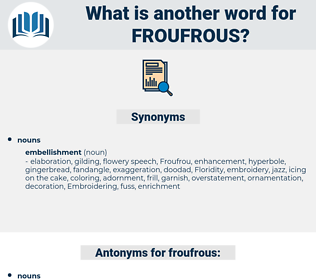 froufrous, synonym froufrous, another word for froufrous, words like froufrous, thesaurus froufrous