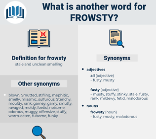 frowsty, synonym frowsty, another word for frowsty, words like frowsty, thesaurus frowsty