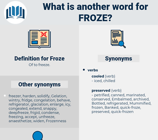 Froze, synonym Froze, another word for Froze, words like Froze, thesaurus Froze