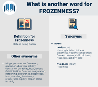 Frozenness, synonym Frozenness, another word for Frozenness, words like Frozenness, thesaurus Frozenness