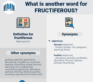 fructiferous, synonym fructiferous, another word for fructiferous, words like fructiferous, thesaurus fructiferous