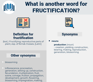 fructification, synonym fructification, another word for fructification, words like fructification, thesaurus fructification