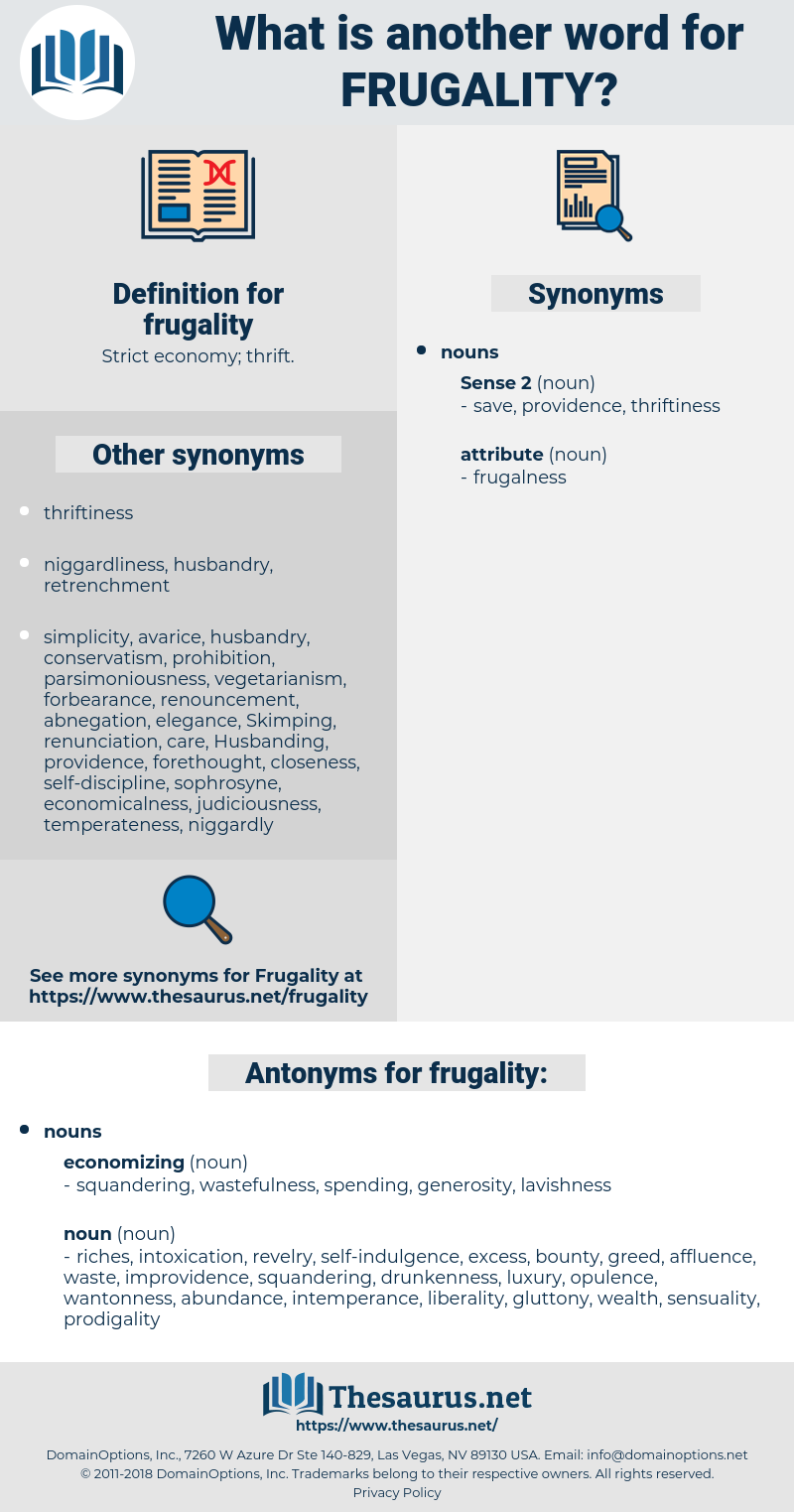 frugality, synonym frugality, another word for frugality, words like frugality, thesaurus frugality