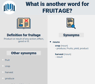 fruitage, synonym fruitage, another word for fruitage, words like fruitage, thesaurus fruitage