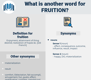 fruition, synonym fruition, another word for fruition, words like fruition, thesaurus fruition
