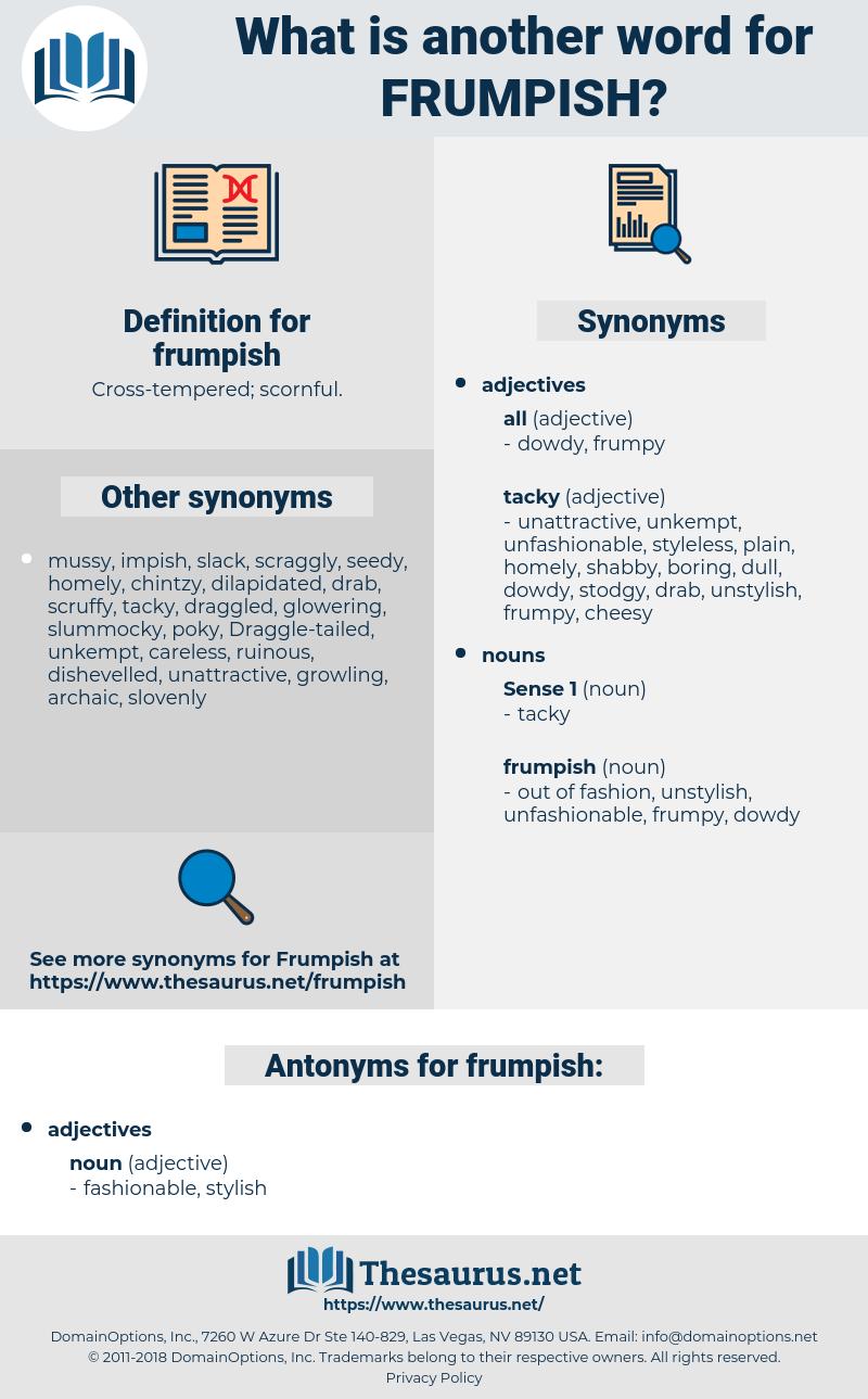 frumpish, synonym frumpish, another word for frumpish, words like frumpish, thesaurus frumpish
