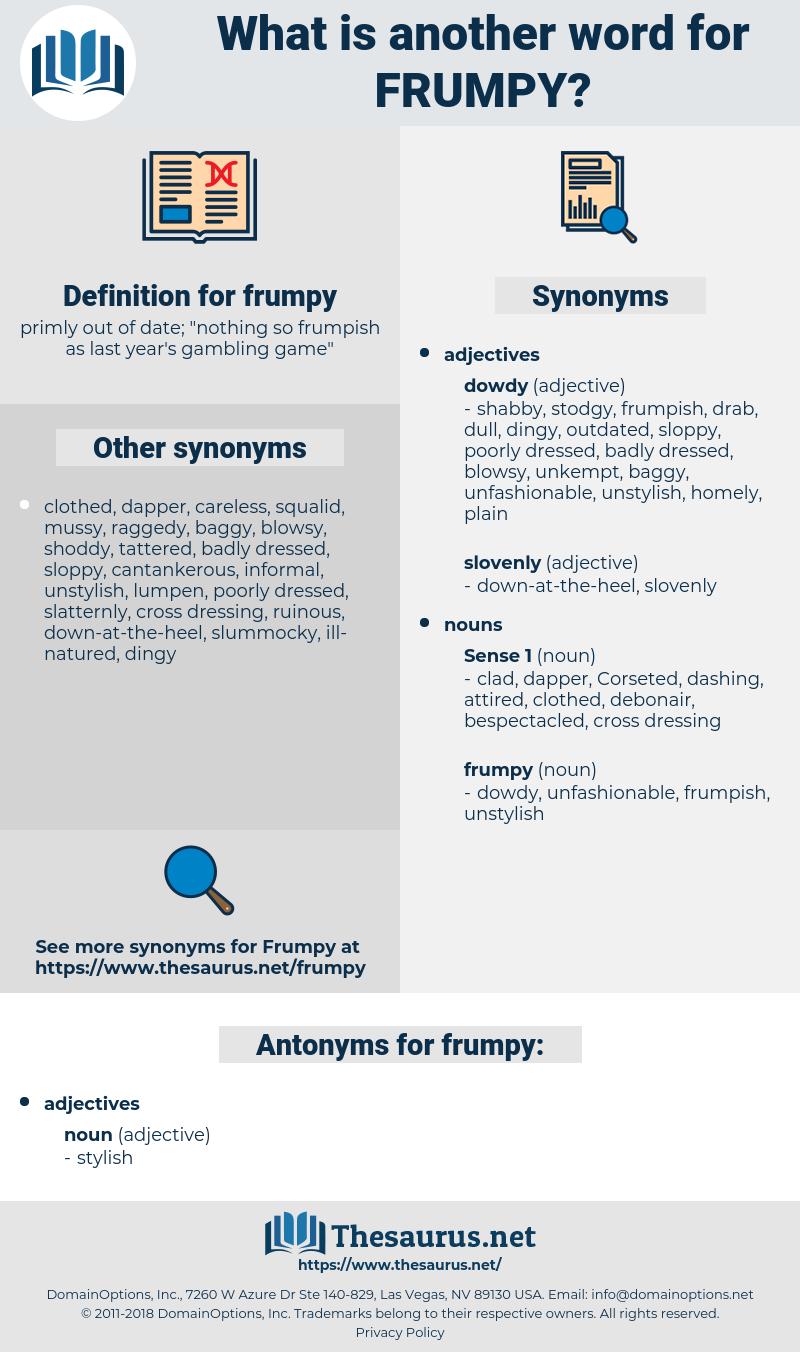 frumpy, synonym frumpy, another word for frumpy, words like frumpy, thesaurus frumpy