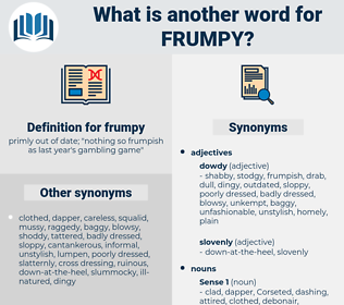 frumpy, synonym frumpy, another word for frumpy, words like frumpy, thesaurus frumpy