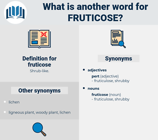 fruticose, synonym fruticose, another word for fruticose, words like fruticose, thesaurus fruticose