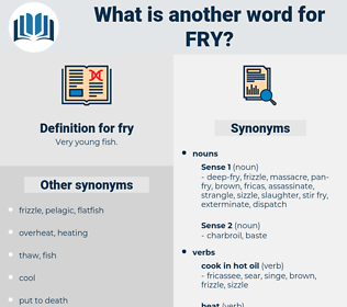 fry, synonym fry, another word for fry, words like fry, thesaurus fry