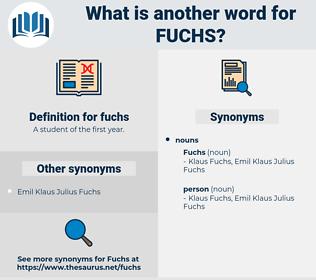 fuchs, synonym fuchs, another word for fuchs, words like fuchs, thesaurus fuchs