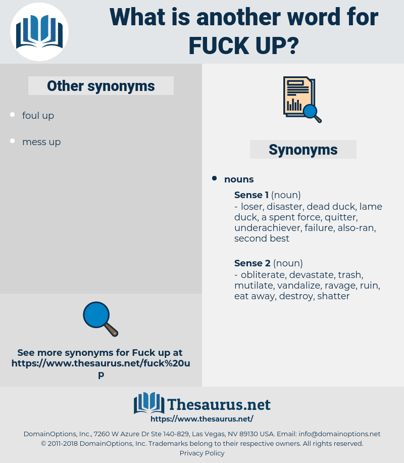 fuck up, synonym fuck up, another word for fuck up, words like fuck up, thesaurus fuck up