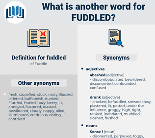 fuddled, synonym fuddled, another word for fuddled, words like fuddled, thesaurus fuddled