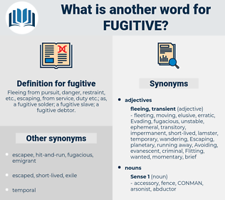 fugitive, synonym fugitive, another word for fugitive, words like fugitive, thesaurus fugitive