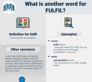 fulfil, synonym fulfil, another word for fulfil, words like fulfil, thesaurus fulfil