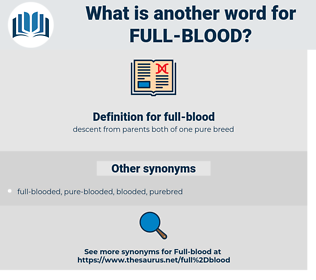 full-blood, synonym full-blood, another word for full-blood, words like full-blood, thesaurus full-blood