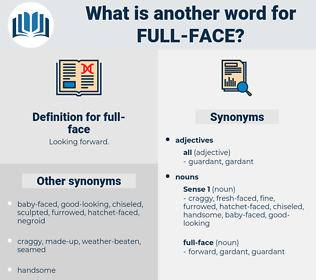 full-face, synonym full-face, another word for full-face, words like full-face, thesaurus full-face