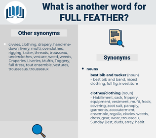 full feather, synonym full feather, another word for full feather, words like full feather, thesaurus full feather