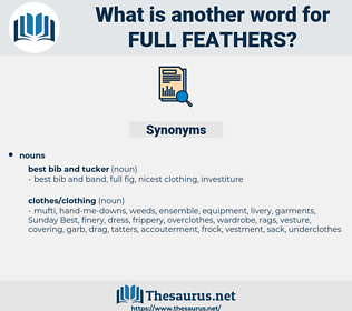 full feathers, synonym full feathers, another word for full feathers, words like full feathers, thesaurus full feathers