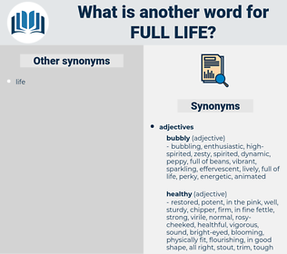 full life, synonym full life, another word for full life, words like full life, thesaurus full life
