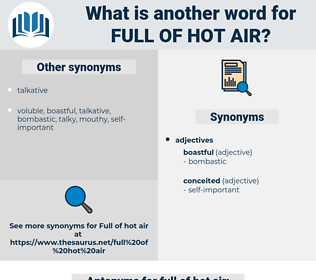 full of hot air, synonym full of hot air, another word for full of hot air, words like full of hot air, thesaurus full of hot air