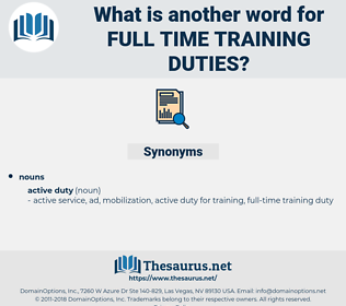 full time training duties, synonym full time training duties, another word for full time training duties, words like full time training duties, thesaurus full time training duties