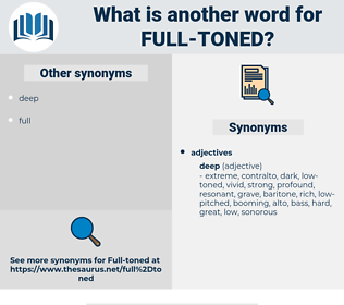 full-toned, synonym full-toned, another word for full-toned, words like full-toned, thesaurus full-toned