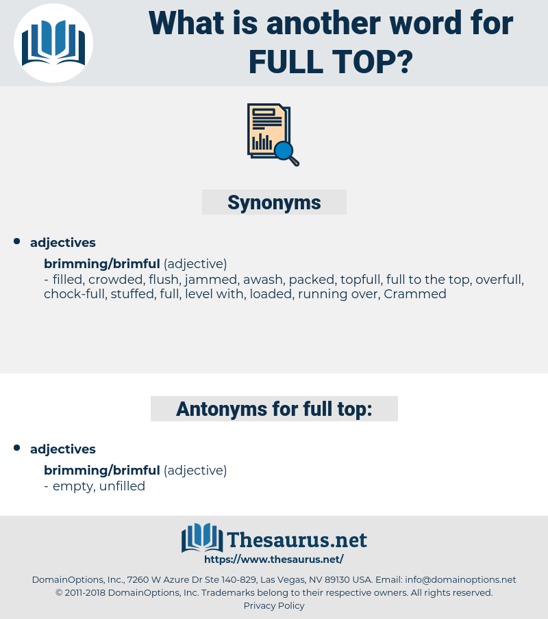 full top, synonym full top, another word for full top, words like full top, thesaurus full top