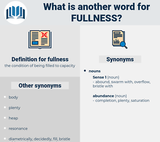 fullness, synonym fullness, another word for fullness, words like fullness, thesaurus fullness