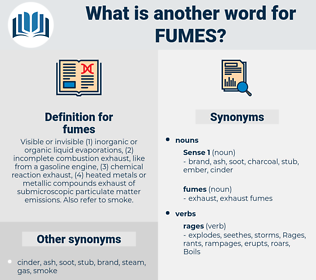 fumes, synonym fumes, another word for fumes, words like fumes, thesaurus fumes