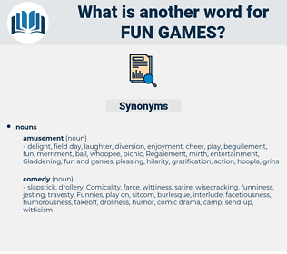 fun games, synonym fun games, another word for fun games, words like fun games, thesaurus fun games