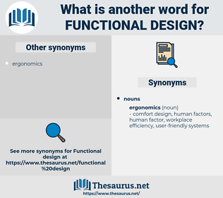 functional design, synonym functional design, another word for functional design, words like functional design, thesaurus functional design