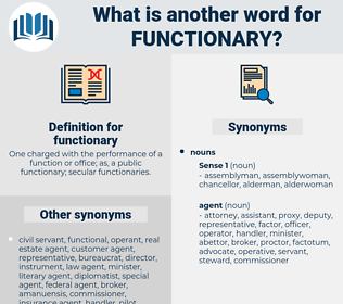 functionary, synonym functionary, another word for functionary, words like functionary, thesaurus functionary