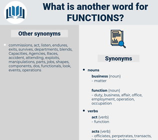 functions, synonym functions, another word for functions, words like functions, thesaurus functions