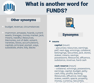 funds, synonym funds, another word for funds, words like funds, thesaurus funds