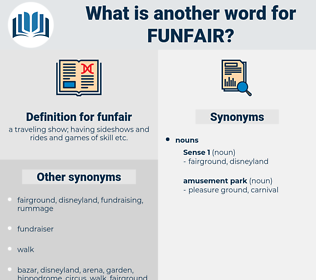 funfair, synonym funfair, another word for funfair, words like funfair, thesaurus funfair