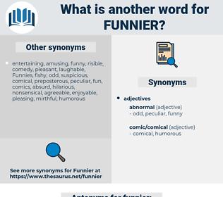 funnier, synonym funnier, another word for funnier, words like funnier, thesaurus funnier