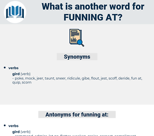 funning at, synonym funning at, another word for funning at, words like funning at, thesaurus funning at
