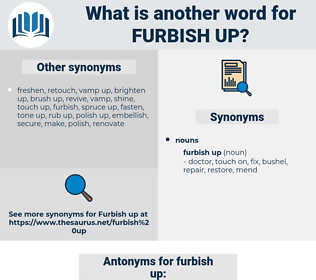 furbish up, synonym furbish up, another word for furbish up, words like furbish up, thesaurus furbish up