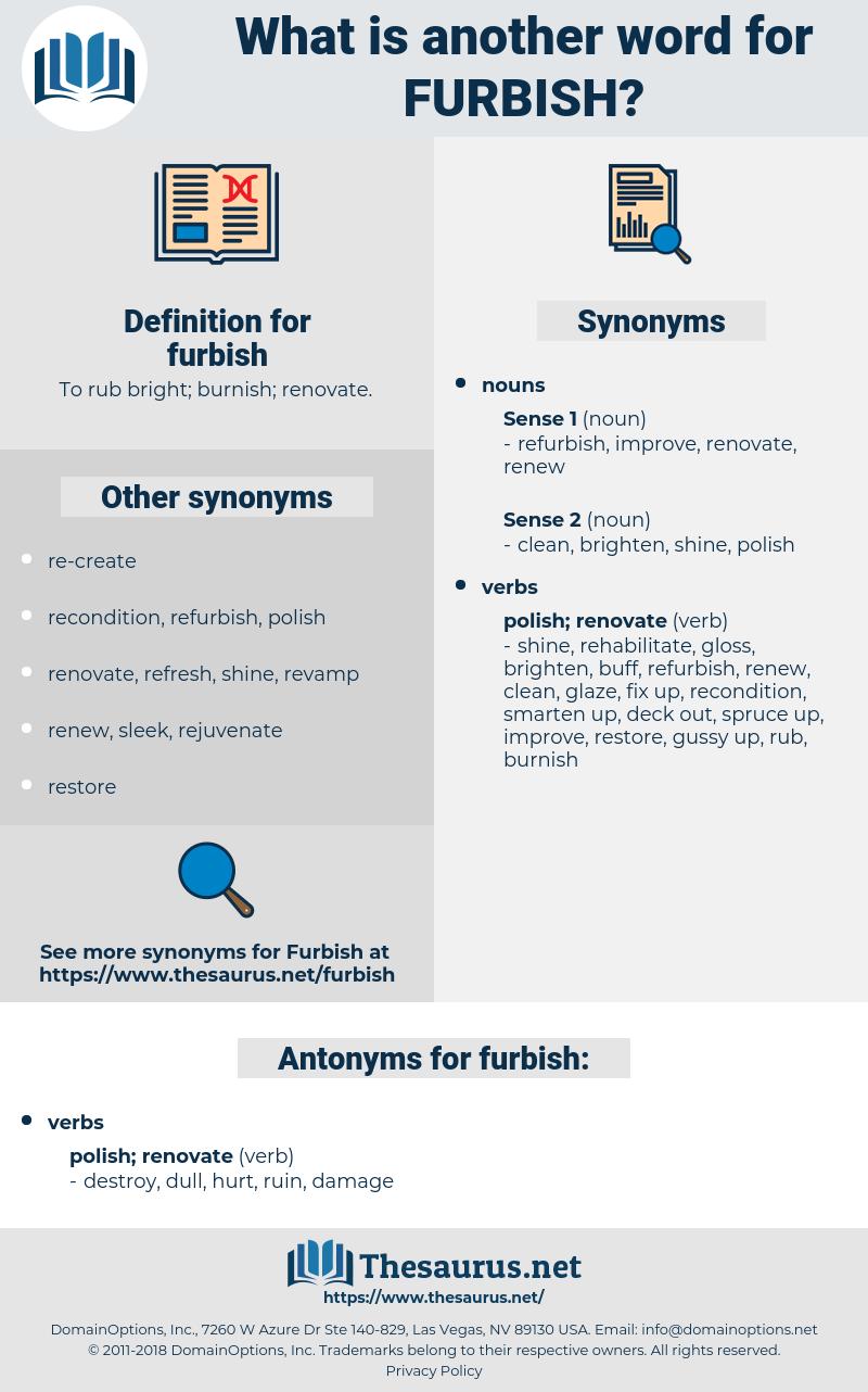 furbish, synonym furbish, another word for furbish, words like furbish, thesaurus furbish