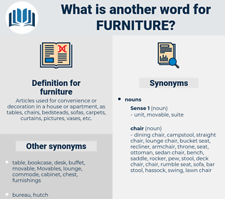 furniture, synonym furniture, another word for furniture, words like furniture, thesaurus furniture