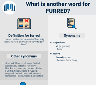 furred, synonym furred, another word for furred, words like furred, thesaurus furred