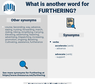 Furthering, synonym Furthering, another word for Furthering, words like Furthering, thesaurus Furthering