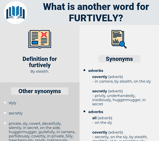 furtively, synonym furtively, another word for furtively, words like furtively, thesaurus furtively