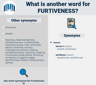 furtiveness, synonym furtiveness, another word for furtiveness, words like furtiveness, thesaurus furtiveness