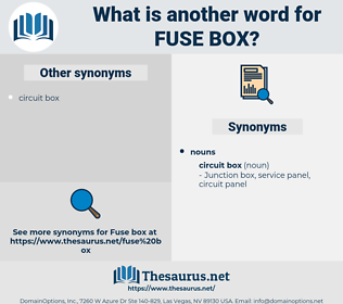 fuse box, synonym fuse box, another word for fuse box, words like fuse box, thesaurus fuse box