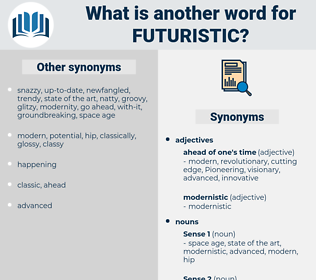 futuristic, synonym futuristic, another word for futuristic, words like futuristic, thesaurus futuristic