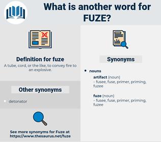 fuze, synonym fuze, another word for fuze, words like fuze, thesaurus fuze